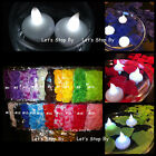 12 LED Floating Candle + 500 Silk Rose Petals Wedding Decoration Flower Floral