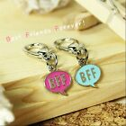Dog/Cat Luxury Cute Collar Charm- BFF Best Friends Forever Blue&Pink Pet Collar