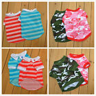 New Pet Puppy Dog Clothes pet dog puppy T shirt Camouflage Stripe Polo Free ship
