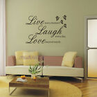 012P live laugh love  Quote Wall Stickers Home Decal Sticker Art decals Quotes