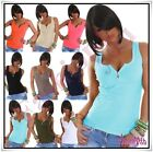 Women's Top Sexy Summer Ladies Casual Vest Top with Zip Size 8/10,10/12,12/14 UK