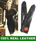 40cm(15.5 inches) super-soft Real Sheepskin Leather long opera gloves