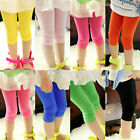 Hot Kid Girl Casual Slim  Stretch Tights Skinny Leggings Pants Candy Color
