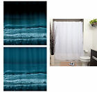 Ocean Waves Nature - Fabric Polyester Shower Curtain -  Colorful Decorative