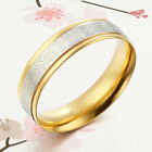 Men Women Matching 18K Gold Wedding Titanium Ring Sz4-16 GM080