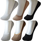 UK Size 4-7: Womens Ladies Cotton Liners Ankle Ballerina Flats Invisible Socks