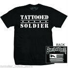 NEW WITH TAGS Steadfast TATTOOED SOLDIER Tee Shirt BLACK SMALL-5XLARGE LIMITED