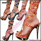 High Heels Shoes Sexy Women's Heeled Platform Strappy Shoes 3,4,5,6,7,8 Size UK