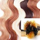 25Strand U Nail Tip Pre Bonded Fusion Body Wave Wavy Remy Human Hair Extensions