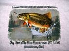 TROUT FISHING HUMOR T-SHIRT SHORT SLEEVE W/PKT BROWN TROUT FLY FISHING RAINBOW