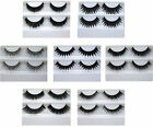 2 PAIRS OF FALSE EYELASHES PLUS EYELASH ADHESIVE / EYE LASH GLUE CHOICE OF 7