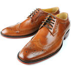 Leather Brogue Wingtip Lace Up Formal Dress Shoes oxford mens shoes [JG]