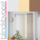 Sole Design - Made To Measure Vertical Blinds - 3 Colours - Multipack Deals