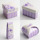 Lilac Rose Wedding Favour Boxes (Pk 10) - choice of shapes