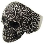 USA Seller Men's Silver Stainless Steel Skull Harley Biker Ring Size 8-15 SR43