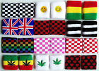 Pair WRISTBANDS SWEATBANDS fun party sports CHOOSE COLOUR brand new