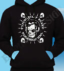 Psychobilly Hoodie Hoody Rockabilly Biker Rock & Roll Skull Punk Heart Soul 50's