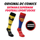 ORIGINAL DC COMICS BATMAN & SUPERMAN FOOTBALL SOCCER SPORT OUTDOOR SOCKS