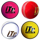 Leather Cricket Ball Hard Ball Cricket Ball Match Quality 4 Colors