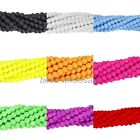 Matte Neon Frosted Glass Round Spacer Beads Long Strand Various Color and Size