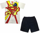 "MENS SUPERMAN PYJAMAS NIGHT WEAR ""KA POW!"" SHORT PYJAMAS BNWT #542"