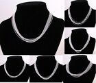 New Special Price wholesale jewelry 925Silver 10 PCS Necklace+gift box