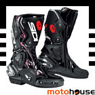 SIDI WOMENS VERTIGO LEI BOOTS SPORT-ON-ROAD RACE STREET LORICA BLACK PINK