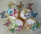 24 pastel assorted edible wafer butterfly cupcake cake toppers fairy birthday