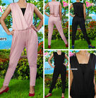 Angela New Plain Deep V-Neck Jumpsuit/Pants/Dress Fit Maternity Size M-XL CA