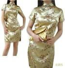 BL gold black/red Chinese Silk Women's Dress/CheongSam 6.8.10.12.14.16.18.20.22