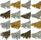 100pcs Bronze,Gold & SILVER PLATED Metal Flat Headpins Eyepins Ballpins Findings
