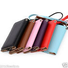 Chic Smart Phone Leather Carrying Wrist-Let Clutch Flip Wallet Case Cover Pouch