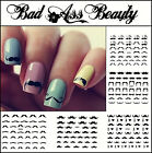 Black Moustache Tash 3D Nail Art Stickers UV Acrylic Decals Tips Decorations