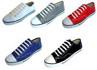 New Mens Canvas Sneakers Classic Lace Up Fashion Casual Shoes Colors Size7 13