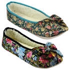NEW DUNLOP LADIES WINTER WARM WOMEN BALLERINA SLIPPERS SHOES MULES SIZE UK 3- 8