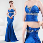 Unique Luxury Sexy Beads Formal Cocktail Ball Gown Prom Party Evening Long Dress