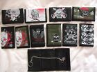 NEW One  Skull Tri Fold Wallet with Chain