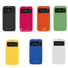 choose Wake View Smart Cover Flip Leather Case fits Samsung Galaxy S4 IV I9500