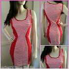 *Lushous*Red and white striped dress very flattering sizes small, medium,large