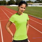 SPIRO SPORTS WEAR LADIES SHORT SLEEVE T SHIRT TOP 4 Cols 8 to 16 GYM TRACK CYCLE
