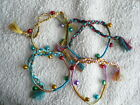 Namaste Colourful & Bright Silky Bracelet/Anklet With Singing Bells Funky *2nds*