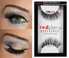 Lot 6 Pairs GENUINE RED CHERRY #43 Stevi Human Hair Lashes Black False Eyelashes