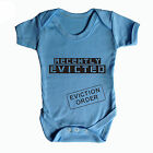 RECENTLY EVICTED BABY GROW - FUNNY BABY GROWS - BABY WEAR - GIFT PRESENT