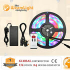IR/RF 12V 5050 SMD RGB Colour Changing LED Strip Light 3A 5A 6A Power Supply Kit