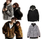 NEW ARRIVAL Unisex Leopard Jacket two side Hoodie Hooded Sweater Zip up Cardigan