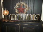 """Wood Sign """"FARMHOUSE"""" Country Rustic Prim Wall Hanging Farmhouse Home Decor Sign"""