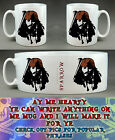 PIRATES OF THE CARIBBEAN JACK SPARROW PERSONALISED MUG CUSTOM MADE