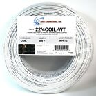 Внешний вид - 22 Gauge 4 Conductor White Stranded Copper Security Alarm Wire Cable