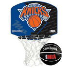 SPALDING NEW YORK KNICKS NBA MICRO MINI BASKETBALL  SET BNIB