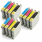 E-615 x3 Sets (12) Compatible Printer Ink Cartridges E-611 E-612 E-613 E-614